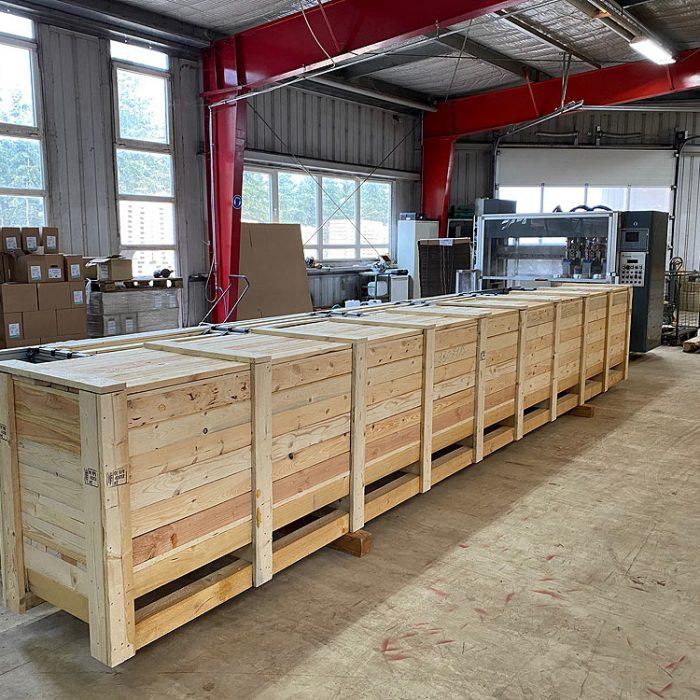 Exportkiste Aluminiumprofile Kopp Verpackungen