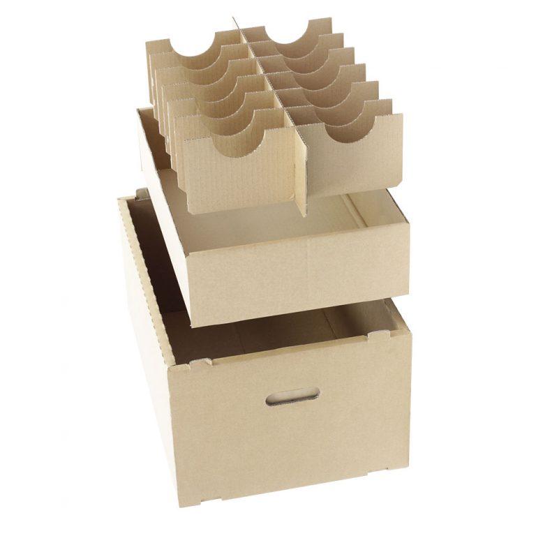 Konstruktive Inneneinrichtung, Stegsatz aus Wellpappe