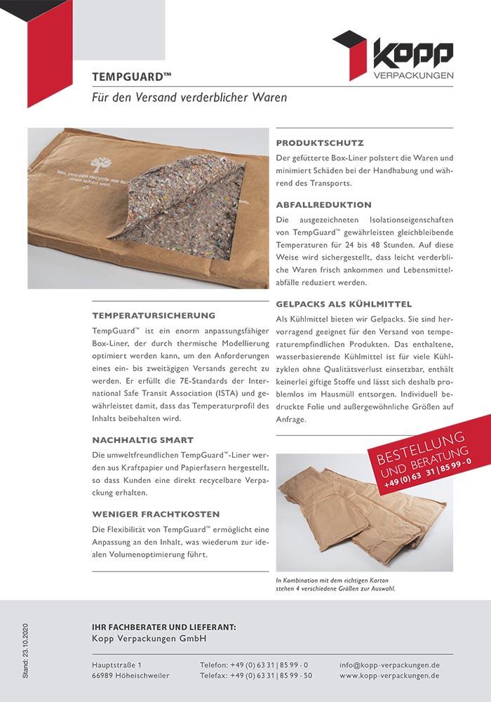 Tempguard, Recycelbare Thermo-Isolierung aus Papierfasern ersetzt Styropor