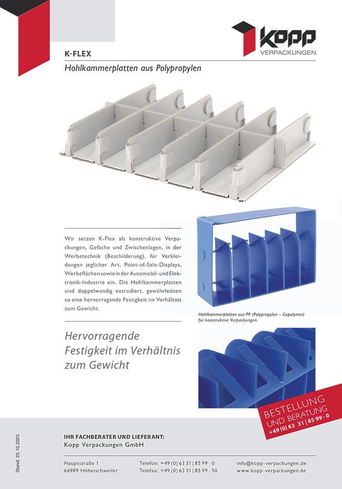 Hohlkammerplatten, K-Flex