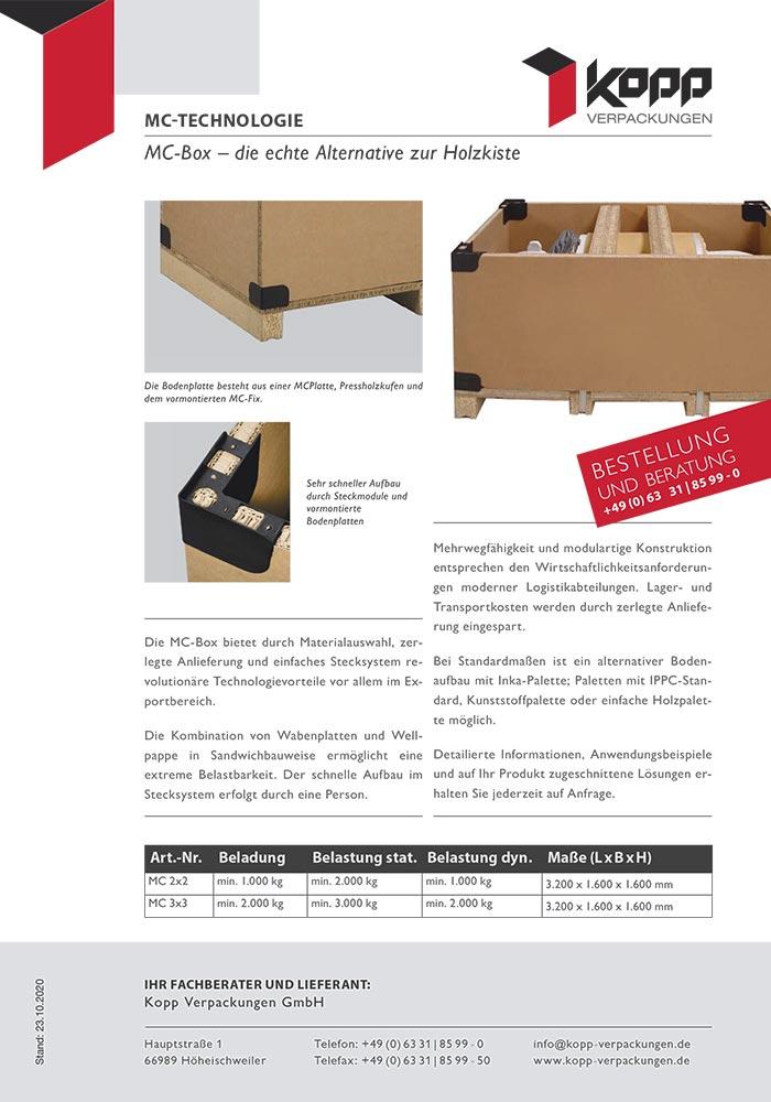 MC-Box, die echte Alternative zur Holzkiste