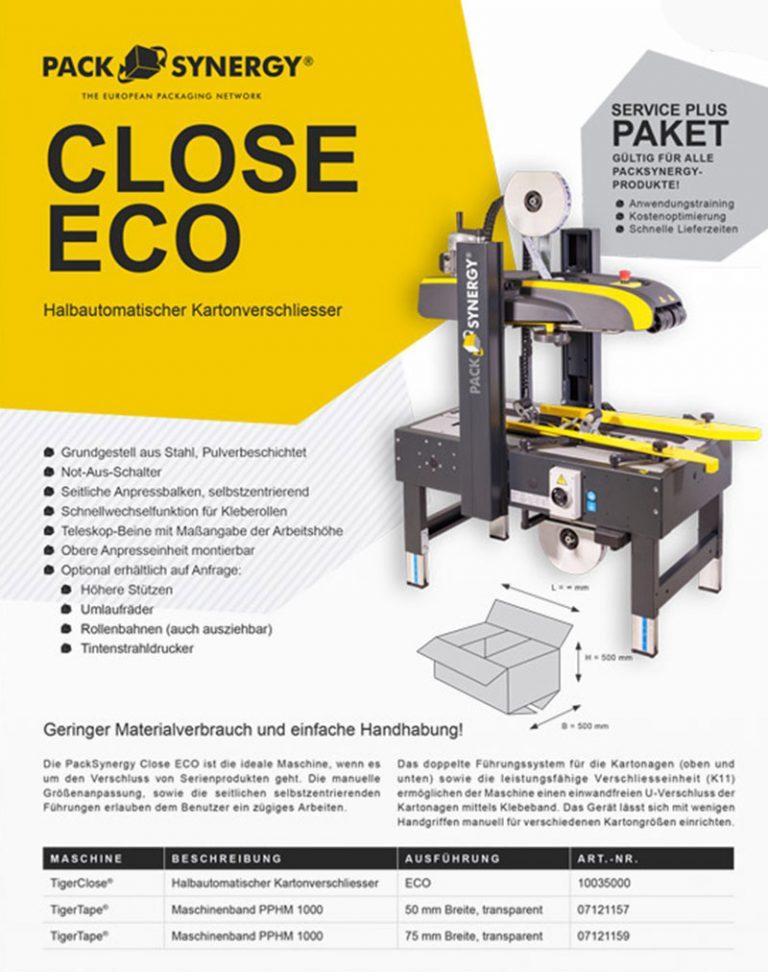 Halbautomatischer Kartonverschliesser | ECO